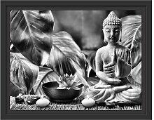 Gerahmtes Wandbild Buddha Statue East Urban Home