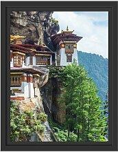 Gerahmtes Wandbild Buddha Tempel in China East
