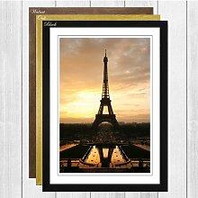 Gerahmtes Wandbild Eiffelturm in Paris, Fotodruck