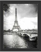 Gerahmtes Wandbild Eiffelturm in Paris Kunst East