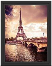 Gerahmtes Wandbild Eiffelturm in Paris