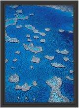 Gerahmtes Wandbild Korallenriffe Australien