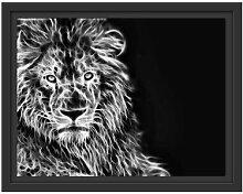 Gerahmtes Wandbild Löwe, Natur, Afrika