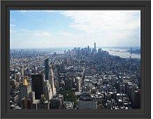 Gerahmtes Wandbild New York City Panorama East