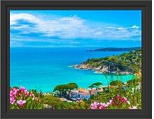 Gerahmtes Wandbild Panorama  an der Toskana