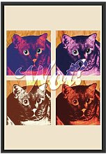 Gerahmtes Wandbild Pop-art cat