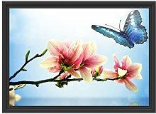 Gerahmtes Wandbild Schmetterling mit