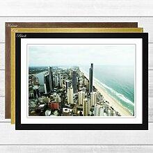 Gerahmtes Wandbild Skyline von Gold Coast in