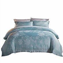 Gereinigte Baumwolle Einfache Heimtextilien Vierteilige Blatt Bettwäsche Tasche Kissenbezug