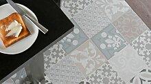 Gerflor TEXLINE® PVC Vinyl Bodenbelag - 1955 Provence Creme Linoleum Rolle Fußbodenbelag Vinylbahnen Steindekor, Fliesenoptik - Breite 4m