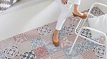 Gerflor TEXLINE® PVC Vinyl Bodenbelag - 1956 Provence Ocre Linoleum Rolle Fußbodenbelag Vinylbahnen Steindekor, Fliesenoptik - Breite 4m