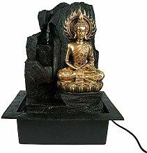 gerimport Brunnen Buddha Flamme Vergoldet 41 cm