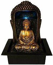 Gerimport Brunnen Buddha Gold Luz Harz