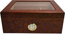 GERMANUS Humidor Desk I mit transparentem Deckel