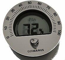 GERMANUS Humidor Hygrometer, Kalibrierbar,
