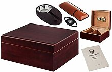 GERMANUS Zigarren Humidor Set mit Cutter,