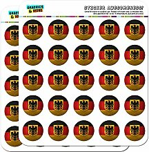 Germany with Crest Flag Soccer Ball Futbol Football 1 Scrapbooking Crafting Stickers by Graphics and More