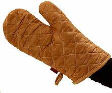 GERMER 1 Paar Grill Grillen Kochhandschuh Hitzebeständig Unterarmschutz Lange Stulpe Backen Und Ofenhandschuhe Camping Handschuhe,CoffeecolorC
