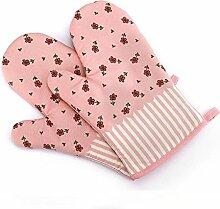 GERMER 1 Paar Hitzebeständige Ofenhandschuhe BBQ-Grill-Handschuhe,Pink