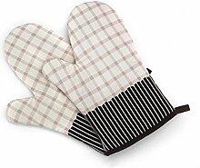 GERMER 1 Paar Hitzebeständige Ofenhandschuhe BBQ-Grill-Handschuhe,Beige