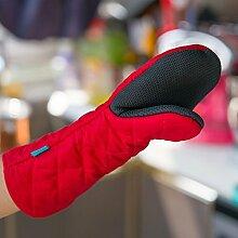 GERMER Lange Silikon-Handschuhe Hitzebeständige Ofenhandschuhe BBQ-Grill-Handschuhe