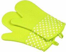 GERMER Single Silikon-Ofen-Grill Grill-Handschuhe,Green