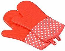 GERMER Single Silikon-Ofen-Grill Grill-Handschuhe,Pink
