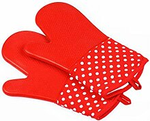 GERMER Single Silikon-Ofen-Grill Grill-Handschuhe,Red