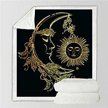GermYan Golden Throw Blanket Moon Begleitet