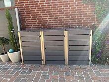 Gero metall Mülltonnenbox für DREI 240 Liter
