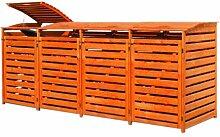 Gero metall Mülltonnenbox Holz Honigbraun für