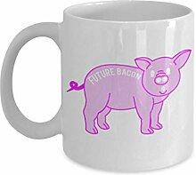Geschenk für Tierliebhaber, Future Bacon - Weiße