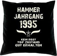 Geschenk Set 23. Geburtstag : Hammer Jahrgang 1995 : Kissen 40 x 40 inkl. Füllung & Urkunde : Geburtstagsgeschenk Männer Frauen Farbe: schwarz