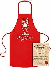 Geschenk-Set :: Christmas - Grill-Kochschürze & Urkunde als Weihnachtsgeschenk Farbe:ro