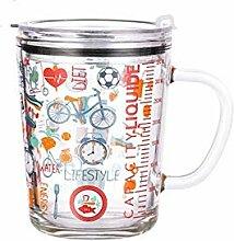 Geschenk Tasse Glas Kaffeebecher Mit Strohhalm Und