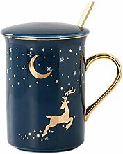 Geschenk Tasse Keramik Sternenhimmel Becher Mit