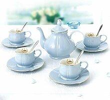 Geschenk Tasse Tassen Keramik Kaffee Set Blume Tee