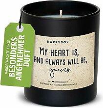 Geschenk Valentinstag - stilvolle Duftkerze im