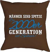 Geschenk zum 18. Geburtstag Kissenbezug Männer ...2000er Generation ist spitzer! Geschenkidee 18 Geburtstag Polster zum 18. Geburtstag für 18-jähirge