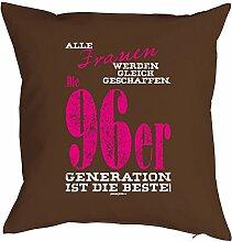 Geschenk zum 21 Geburtstag Kissenbezug Frauen ...96er Generation Geschenkidee zum Geburtstag Polster zum 21. Geburtstag für 21-jähirge