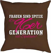 Geschenk zum 21 Geburtstag Kissenbezug Frauen ...96er Generation ist spitzer! Geschenkidee zum Geburtstag Polster zum 21. Geburtstag für 21-jähirge