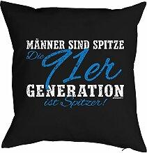 Geschenk zum 26 Geburtstag Kissenbezug: Männer ...91er Generation ist spitzer! Geschenkidee zum Geburtstag Polster zum 26. Geburtstag für 26-jähirge
