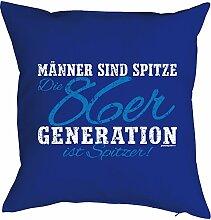 Geschenk zum 32 Geburtstag Kissenbezug Männer ...86er Generation ist spitzer! Geschenkidee zum Geburtstag Polster zum 32. Geburtstag für 32-jähirge