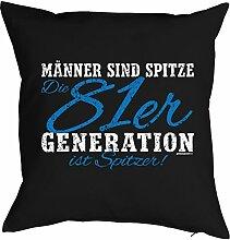 Geschenk zum 36 Geburtstag Kissenbezug Männer ...81er Generation ist spitzer! Geschenkidee zum Geburtstag Polster zum 36. Geburtstag für 36-jähirge