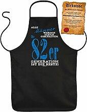 Geschenk zum 36. Geburtstag Schürze mit Urkunde Männer 82er Generation zum 36 Geburtstag Küchenschürze 36 jähriger Geschenk für 36 Jährige