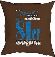 Geschenk zum 37 Geburtstag Kissenbezug Männer ...81er Generation Geschenkidee zum Geburtstag Polster zum 37. Geburtstag für 37-jähirge