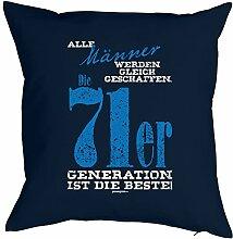 Geschenk zum 46 Geburtstag Kissenbezug Männer 71er Generation Geschenkidee zum Geburtstag Polster zum 46. Geburtstag für 46-jähirge