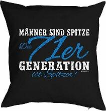 Geschenk zum 46 Geburtstag Kissenbezug Männer 71er Generation ist spitzer! Geschenkidee zum Geburtstag Polster zum 46. Geburtstag für 46-jähirge