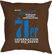 Geschenk zum 47 Geburtstag Kissenbezug Männer 71er Generation Geschenkidee zum Geburtstag Polster zum 47. Geburtstag für 47-jähirge