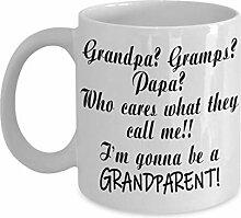 Geschenk zum ersten Mal Großeltern Geschenke Papa